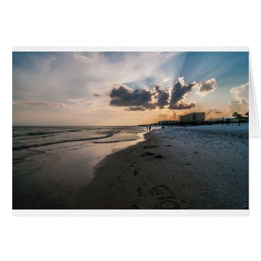 playas de la Florida Tarjeta De Felicitación