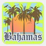 Playas de las islas de Bahamas Colcomanias Cuadradass