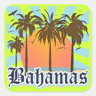 Playas de las islas de Bahamas Pegatina