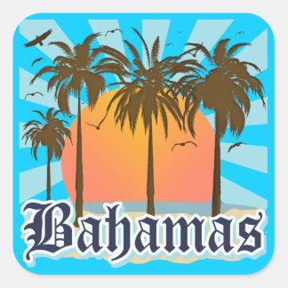 Playas de las islas de Bahamas Pegatina Cuadrada