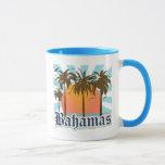 Playas de las islas de Bahamas Taza