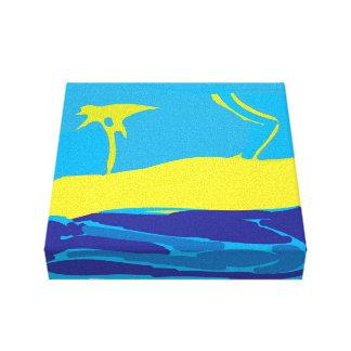 Playas de Sandy Lienzo Envuelto Para Galerías