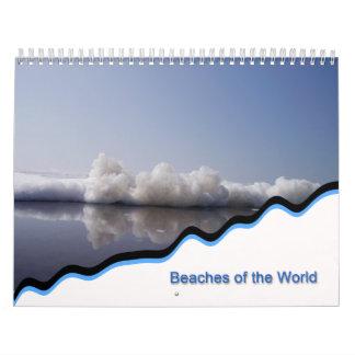 playas del mundo calendario de pared