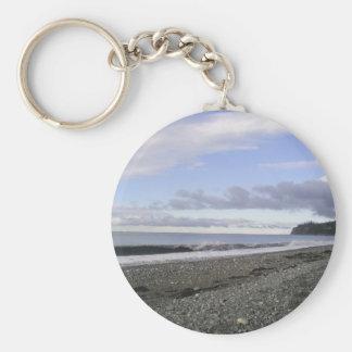 Playas divinas de Alaska Llavero Redondo Tipo Pin