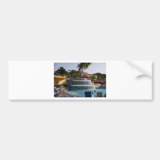 Playas en Boscobel en Jamaica Pegatina De Parachoque