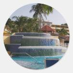 Playas en Boscobel en Jamaica Pegatinas Redondas