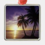 Playas en Negril, Jamaica 3 Ornamentos De Navidad