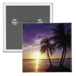 Playas en Negril, Jamaica 3 Pin Cuadrada 5 Cm