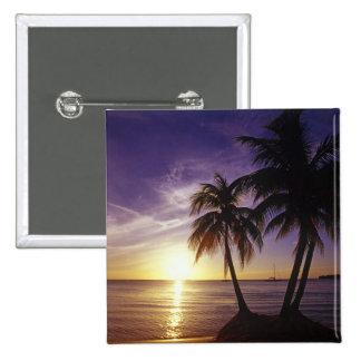 Playas en Negril, Jamaica 3 Pin Cuadrado