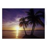Playas en Negril, Jamaica 3 Tarjeta De Felicitación