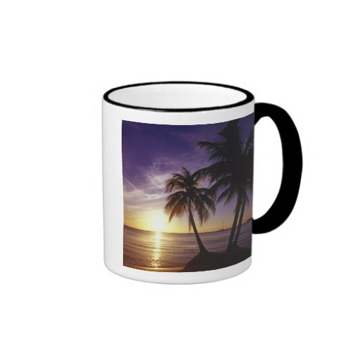 Playas en Negril, Jamaica 3 Taza A Dos Colores