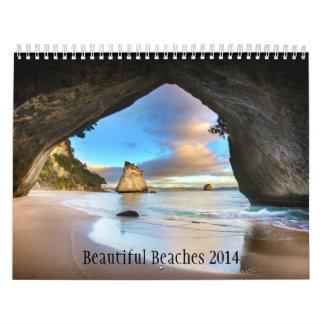 Playas hermosas 2014 escenas de la playa del calendario de pared