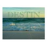 Playas hermosas de Destin, la Florida Tarjetas Postales