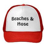 Playas y manguera gorras de camionero