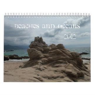 Playas y océanos calendario de pared
