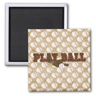 Playball 2 Inch Square Magnet