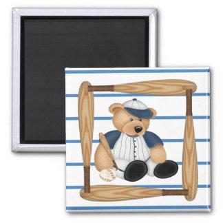 Playball Baseball 2 Inch Square Magnet
