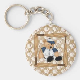 Playball Baseball Basic Round Button Keychain