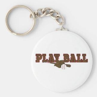 Playball Basic Round Button Keychain