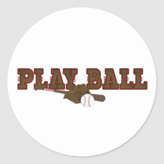 Playball Classic Round Sticker