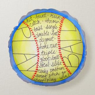 PlayBall! Round Pillow
