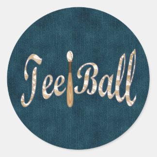 Playball Tee Ball Classic Round Sticker