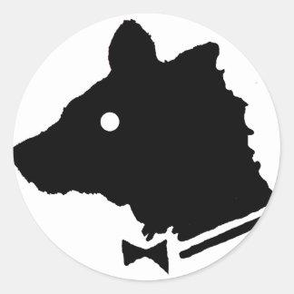 Playbear Classic Round Sticker