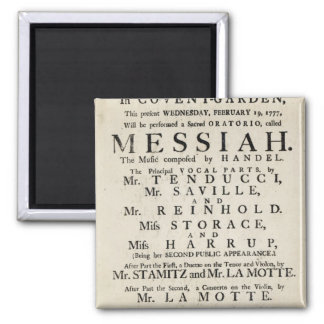 Playbill advertising a performance 2 inch square magnet