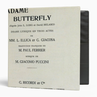 Playbill for Madame Butterfly by Giacomo Binders