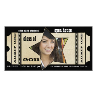 Playbill Senior Pictures Graduation Invitation