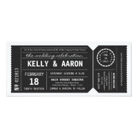 Playbill Theater Ticket Wedding Invitation - Black