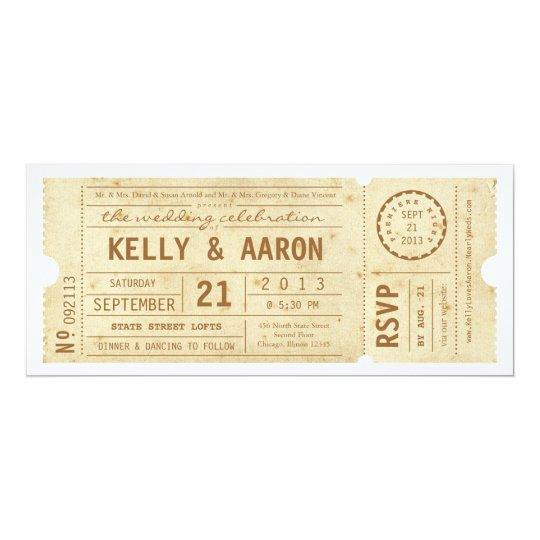 Playbill Vintage Theater Ticket Wedding Invitation Zazzle Com