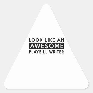 PLAYBILL WRITER DESIGNS TRIANGLE STICKER