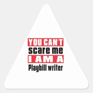 Playbill writer scare designs triangle sticker