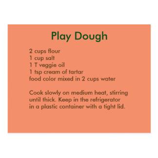 Playdough Recipe Postcard in Autumn Colors