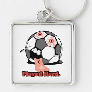 played hard funny deflated soccer ball sports key chains