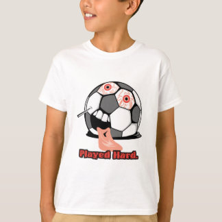 played hard funny deflated soccer ball sports T-Shirt