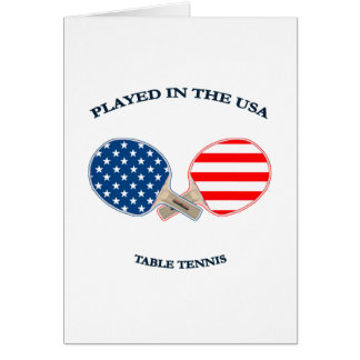 Played in USA Table Tennis Card