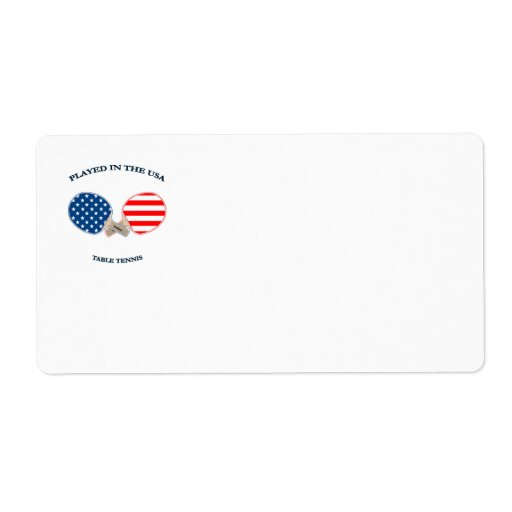 Played in USA Table Tennis Custom Shipping Labels