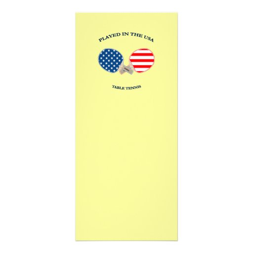 Played in USA Table Tennis Customized Rack Card