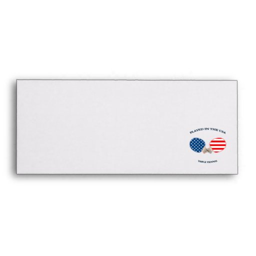 Played in USA Table Tennis Envelope