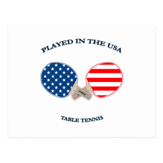 Played in USA Table Tennis Postcard