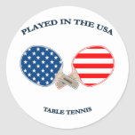 Played in USA Table Tennis Round Sticker