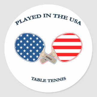 Played in USA Table Tennis Classic Round Sticker