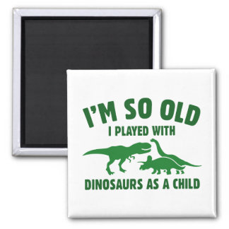Played With Dinosaurs 2 Inch Square Magnet