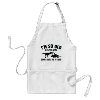Played With Dinosaurs Adult Apron