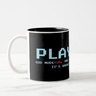 Player 1 Black 325 ml  Two-Tone Mug