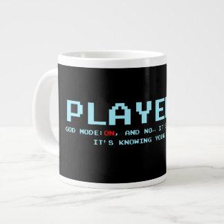Player 1 God Mode Large Mug