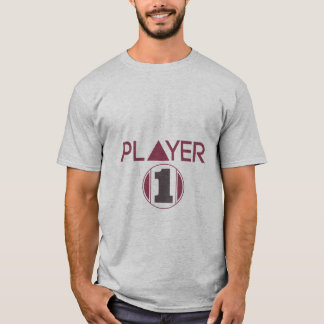 Player 1 T-shirt for Geek and Gamers Sports