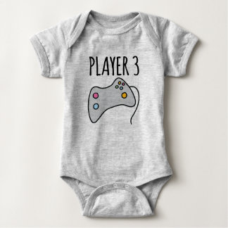 Player 3 baby bodysuit